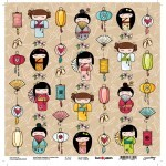 Papel Kokeshi - Goodies - Love Japan Colection - 30,5x30,5