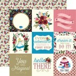 Papel 4X4 Journaling Cards - Alice in Wonderland 30,5x30,5 - Echo Park