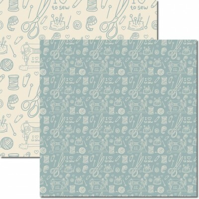 Papel Costura 4 - Katy Borges - 30,5x30,5