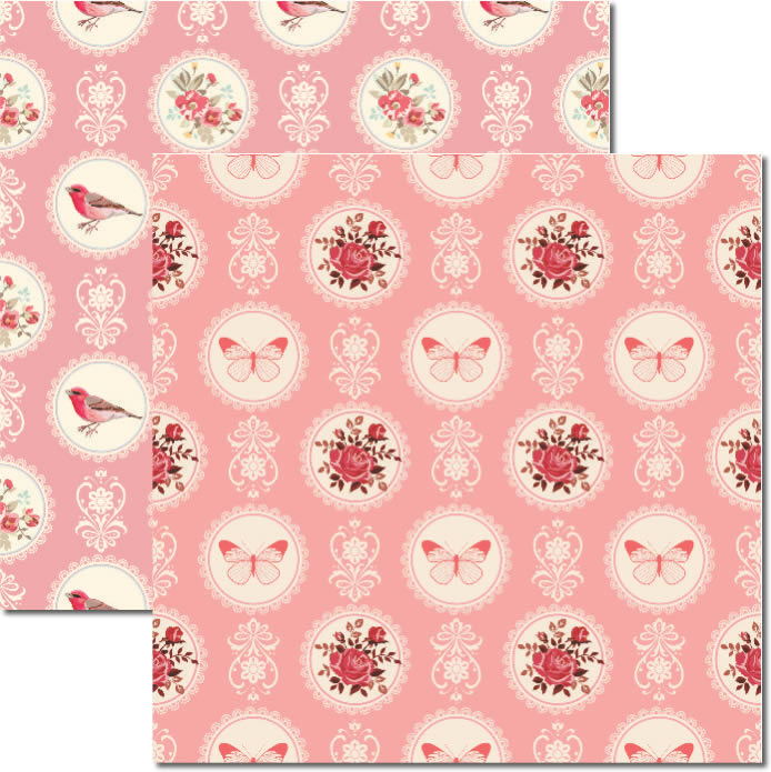 Papel Butterfly - Katy Borges - 30,5x30,5