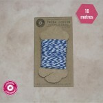 Twine Cotton Azul Royal Bicolor com 6 fios - 10 metros