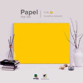 Papel Pop Set - Sunshine Yellow (Ouro) 170g A4 - 25 Folhas