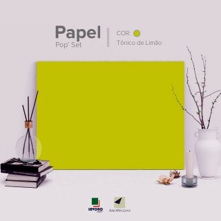 Papel Pop Set - Lime Tonic 170g A4 - 25 Folhas