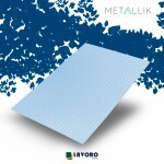 Papel Metallik para Scrapbook - Mini Chevron Azul A4 180g - 1 Folha