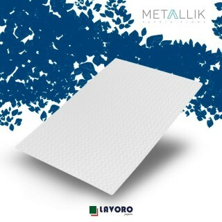 Papel Metallik para Scrapbook - Mini Chevron Branco A4 180g - 1 Folha