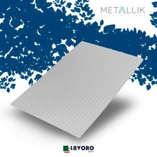 Papel Metallik para Scrapbook - Mini Chevron Prata A4 180g - 1 Folha