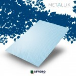 Papel Metallik para Scrapbook - Mini Arabesco Azul A4 180g - 1 Folha