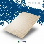 Papel Metallik para Scrapbook - Mini Arabesco Ouro A4 180g - 1 Folha