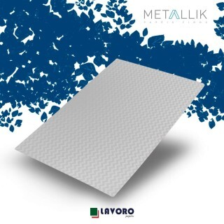 Papel Metallik para Scrapbook - Mini Chevron Prata 30,5 x 30,5 cm 180g - 1 Folha