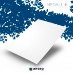 Papel Metallik para Scrapbook - Mini Arabesco Branco 30,5 x 30,5 cm 180g - 1 Folha