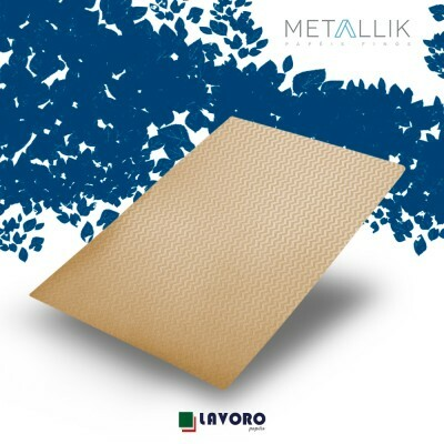 Papel Metallik para Scrapbook - Kraft Mini Chevron Ouro 30,5 x 30,5 cm 180g - 1 Folha