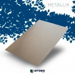 Papel Metallik para Scrapbook - Kraft Mini Chevron Prata 30,5 x 30,5 cm 180g - 1 Folha