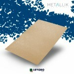 Papel Metallik para Scrapbook - Kraft Arabesco Ouro 30,5 x 30,5 cm 180g - 1 Folha