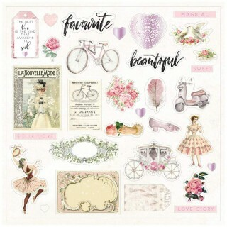 Apliques Ephemera - Love Story Collection - 47 itens