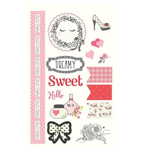 Adesivo Chipboard - Julie Nutting Collection - 34 itens