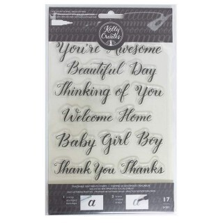 Clear Acrylic Stamps - Traceable - Sentiment