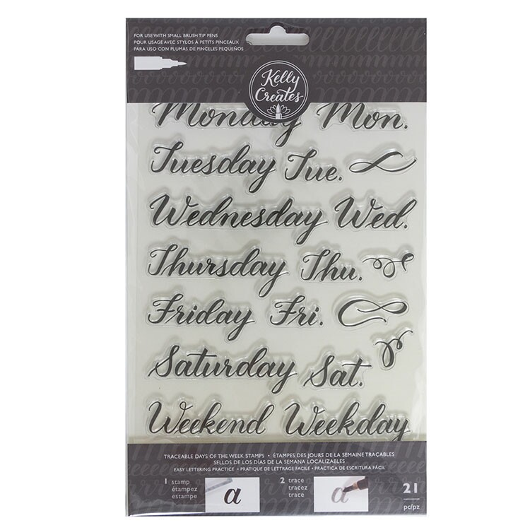 Clear Acrylic Stamps - Traceable - Days of the Week