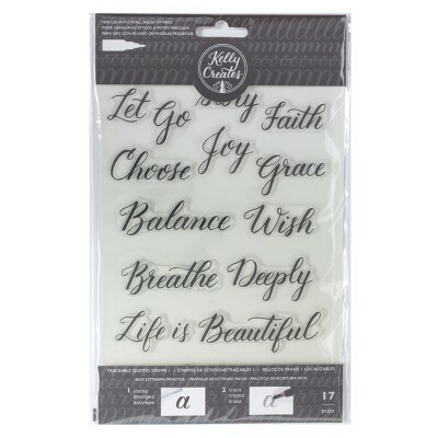 Clear Acrylic Stamps - Traceable - Quotes 1