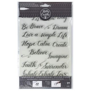 Clear Acrylic Stamps - Traceable - Quotes 3