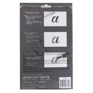 Clear Acrylic Stamps - Traceable - Alphabet