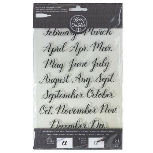 Clear Acrylic Stamps - Traceable - Months