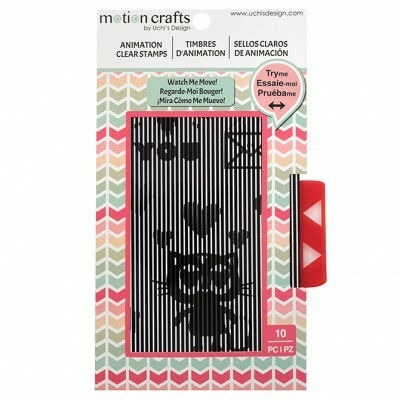 Carimbos de Estampas Animadas - Motion Crafts - Loving Cat