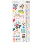 Cartela de Adesivos - Box of Crayons Collection - Cardstock Stickers