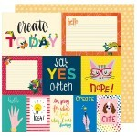 Papel Say Yes Often - Box of Crayons Collection 30,5x30,5 - American Crafts