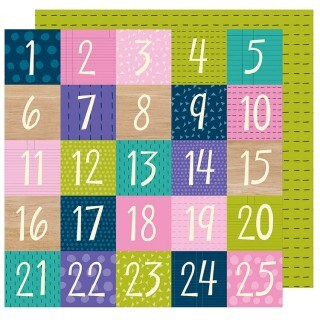 Papel Countdown - Box of Crayons Collection 30,5x30,5 - American Crafts