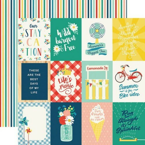 Papel 3 x 4 Journaling Cards - Good Day Sunshine Collection 30,5x30,5 - Echo Park