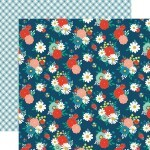 Papel Festive Floral - Good Day Sunshine Collection 30,5x30,5 - Echo Park
