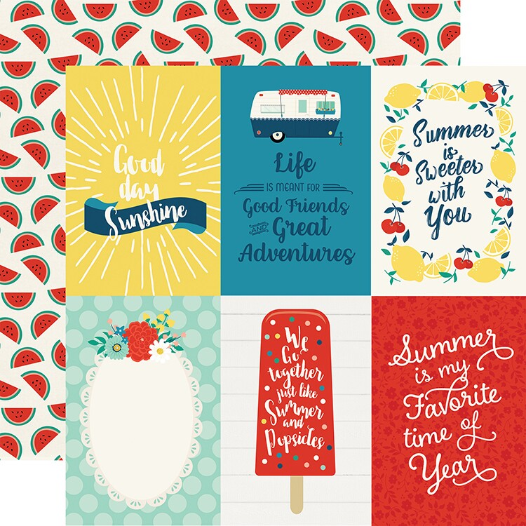 Papel 4 x 6 Journaling Cards - Good Day Sunshine Collection 30,5x30,5 - Echo Park