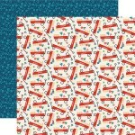 Papel Little Red Wagon - Good Day Sunshine Collection 30,5x30,5 - Echo Park