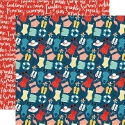 Papel Summertime - Good Day Sunshine Collection 30,5x30,5 - Echo Park