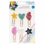 Clips de Papel - Box of Crayons Collection - Ícones com Glitter