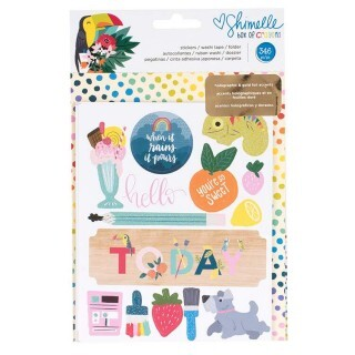 Cartela de Adesivos - Box of Crayons Collection - Sticker and Washi Book