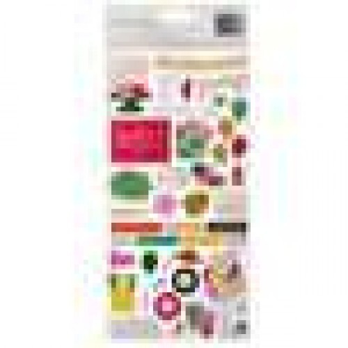 Chipboard Stickers Autocollants - Confetti Wishes Collection - American Crafts