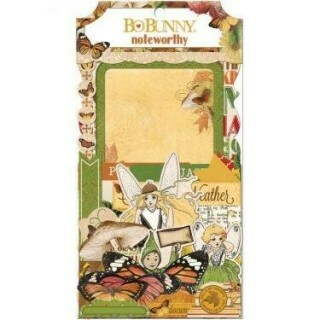 Apliques Chipboard - Noteworthy Enchanted Harvest - Bo Bunny