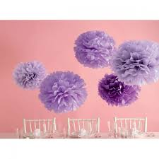 Kit p/ Pom Pons Decorativos - Lilás - Martha Stewart