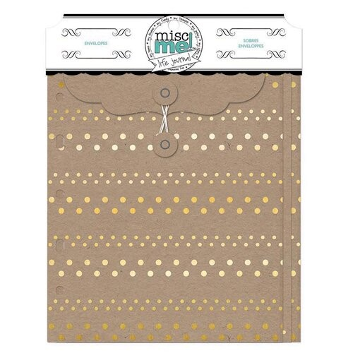 Envelopes  - Misc Me - Gold and Kraft