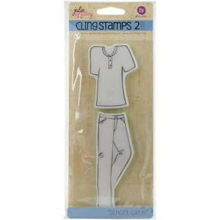 Carimbo de Silicone  - Doll Cling Stamp 2 - Julie Nutting - Scholl Wear