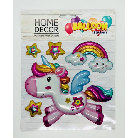 Cartela de Adesivos Unicórnio Balloon - 5 Stickers