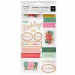 Cartela de Adesivos - Confetti Wishes Collection - 113 stickers