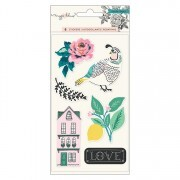 Cartela de Adesivos - Flourish Collection - Puffy Stickers com Relevo