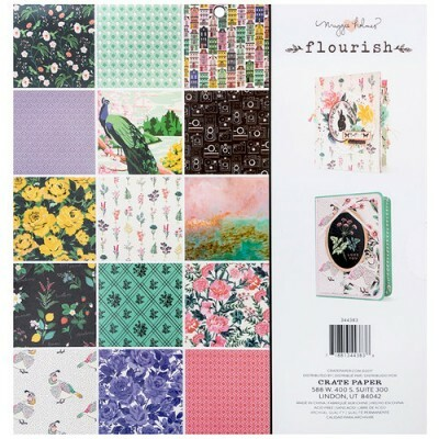 Kit de Papéis - Flourish Collection - Crate Paper - c/ 48 folhas 30,5x30,5