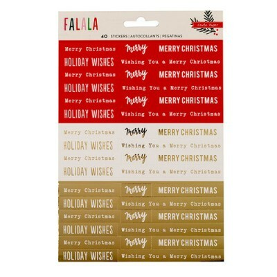 Cartela de Adesivos - Falala Collection - Christmas - Crate Paper