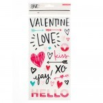 Cartela de Adesivos - Hello Love Collection - Crate Paper