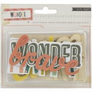Apliques em Madeira - Wonder Collection - Crate Paper