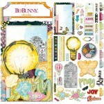 Apliques Chipboard - Faith Collection - Bo Bunny 51 pcs