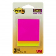 kit Bloco de Notas Super Adesivas Post-it®  76 mm x 76 mm - 45 folhas